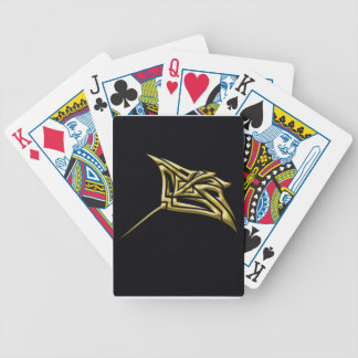 Golden Tribal Stingray Bicycle Playing Cards