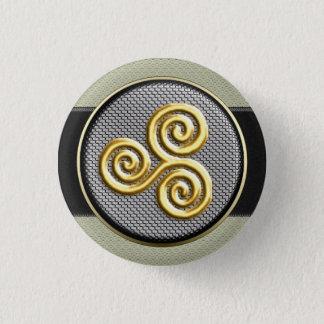 Golden Triskele 3 Cm Round Badge