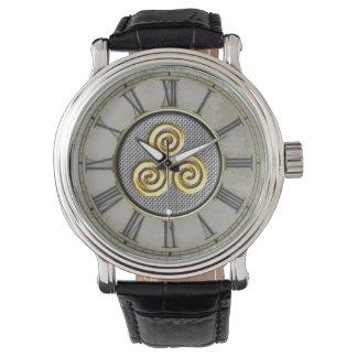 Golden Triskele Design Watch