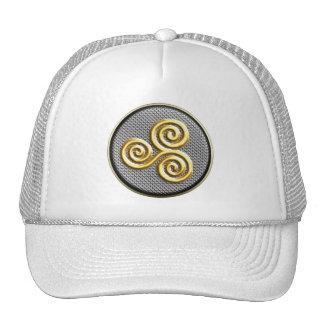 Golden Triskele Mesh Hats