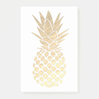 golden tropical pineapple post-it notes