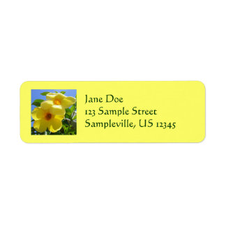 Golden Trumpet Flowers I Return Address Label