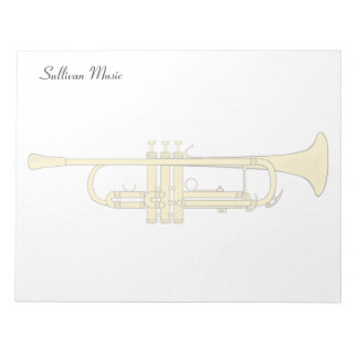 Golden Trumpet Music Theme Notepad