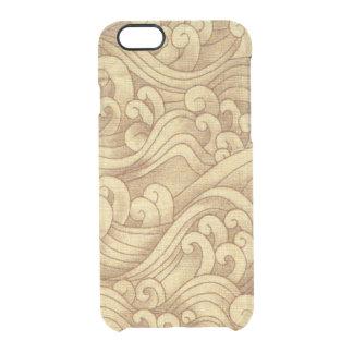 Golden Tsunami Ocean Tidal Waves Wheat Color Sea Clear iPhone 6/6S Case
