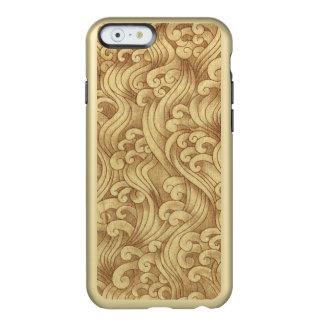 Golden Tsunami Ocean Tidal Waves Wheat Color Sea Incipio Feather® Shine iPhone 6 Case