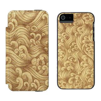 Golden Tsunami Ocean Tidal Waves Wheat Color Sea Incipio Watson™ iPhone 5 Wallet Case