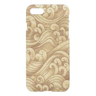 Golden Tsunami Ocean Tidal Waves Wheat Color Sea iPhone 7 Case