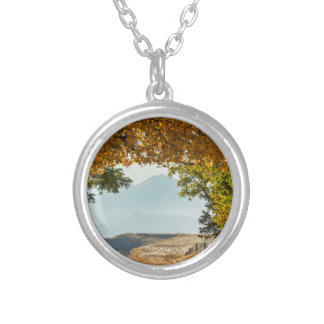 Golden Tunnel Of Love Silver Plated Necklace