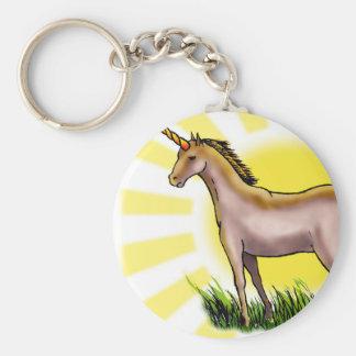 Golden Unicorn Key Ring