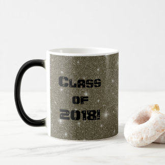 Golden Universe Graduation Black and White Mug