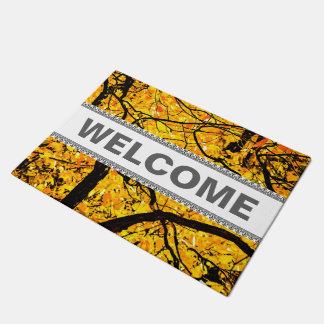 Golden Veins Of Autumn Doormat
