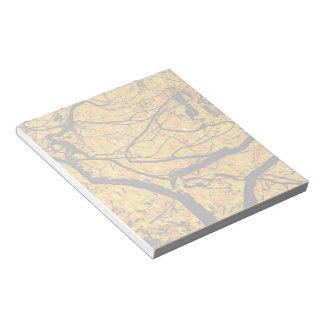 Golden Veins Of Autumn Notepad