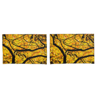 Golden Veins Of Autumn Pillowcase