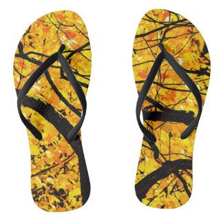 Golden Veins Of Autumn Thongs