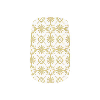 Golden Victorian Inspired Pattern Nail Sticker