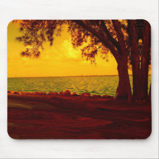 Golden View Mouse Pad