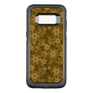 Golden vintage floral pattern OtterBox commuter samsung galaxy s8 case