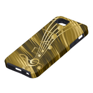 Golden violin key tough iPhone 5 case