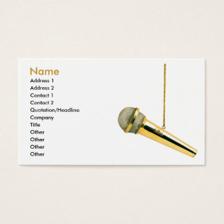 ♫ Golden Vocals ♫ Business Card