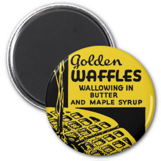 Golden Waffles Breakfast Magnet