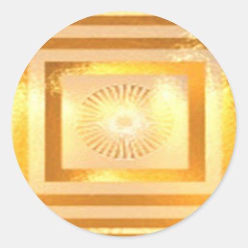 Golden Warm Energy Round Sticker