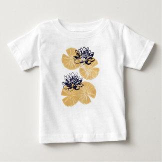 Golden Water lilies Baby T-Shirt