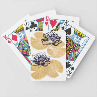 Golden Water lilies Bicycle Playing Cards