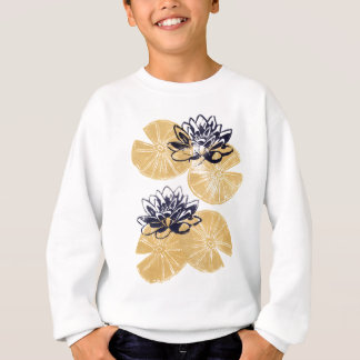 Golden Water lilies Sweatshirt