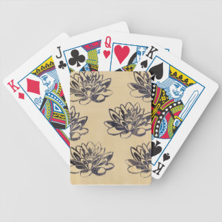 Golden Water Lilies two Bicycle Playing Cards