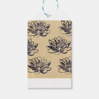 Golden Water Lilies two Gift Tags