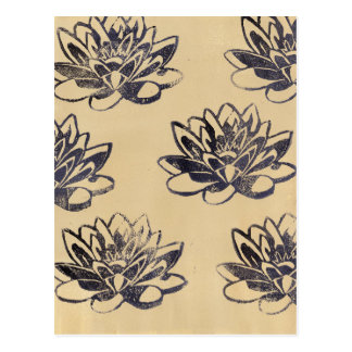 Golden Water Lilies two Postcard
