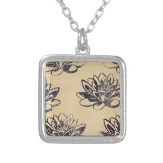 Golden Water Lilies two Silver Plated Necklace