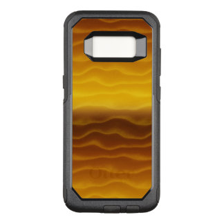 Golden Waves Abstract Pattern OtterBox Commuter Samsung Galaxy S8 Case