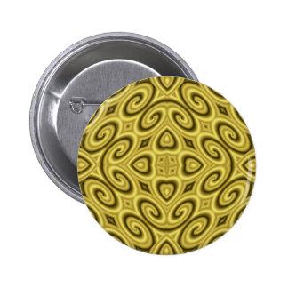 Golden Waves Big 6 Cm Round Badge