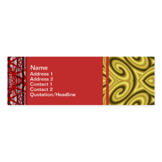 Golden Waves Big Double-Sided Mini Business Cards (Pack Of 20)