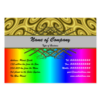 Golden Waves Big Pack Of Chubby Business Cards