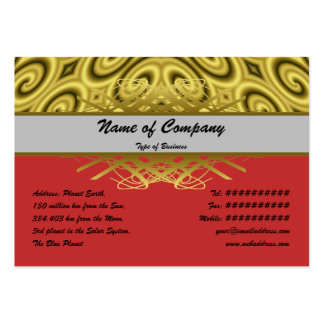 Golden Waves Big Large Business Cards (Pack Of 100)