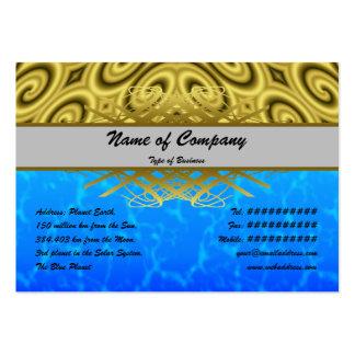 Golden Waves Big Business Card Templates