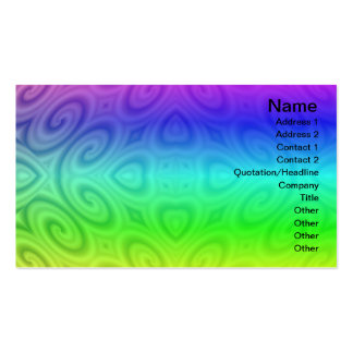 Golden Waves Big Double-Sided Standard Business Cards (Pack Of 100)