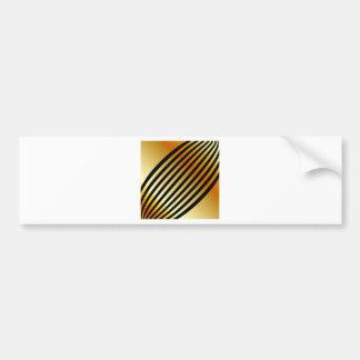 Golden waves bumper sticker