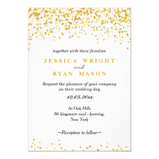 Golden wedding 13 cm x 18 cm invitation card