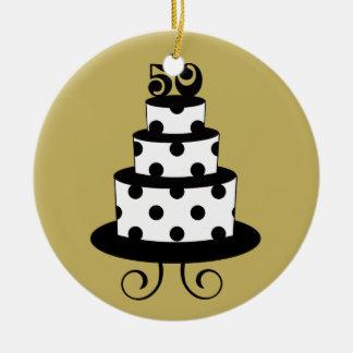 Golden Wedding 50th Anniversary Keepsake Ceramic Ornament