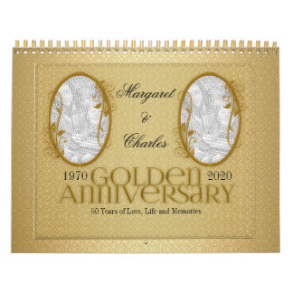 Golden Wedding Anniversary 50th Photo Calendar