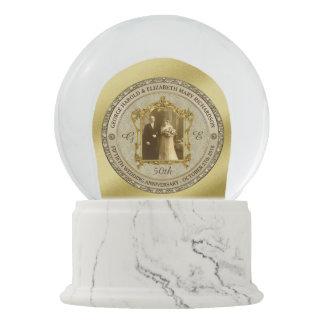 Golden Wedding Anniversary Classic Photo Frame Snow Globe