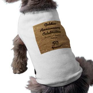 Golden Wedding Anniversary Doggie T-Shirt