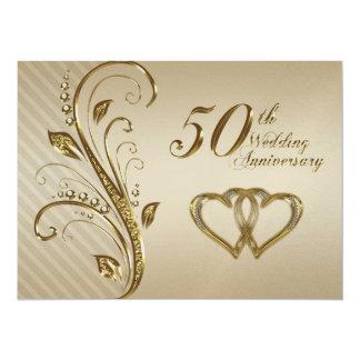 "Golden Wedding Anniversary Invitation Card 5.5"" X 7.5"" Invitation Card"