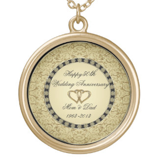 Golden Wedding Anniversary Necklace