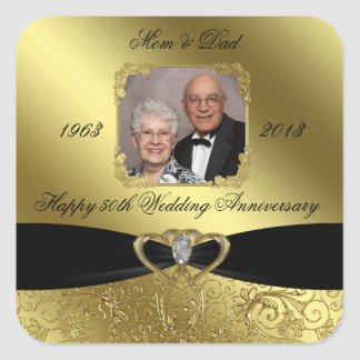 Golden Wedding Anniversary Photo Sticker