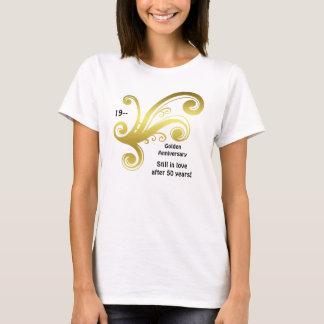 Golden wedding anniversary swirl T-Shirt