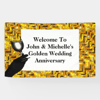 Golden wedding anniversary toast   Personalise